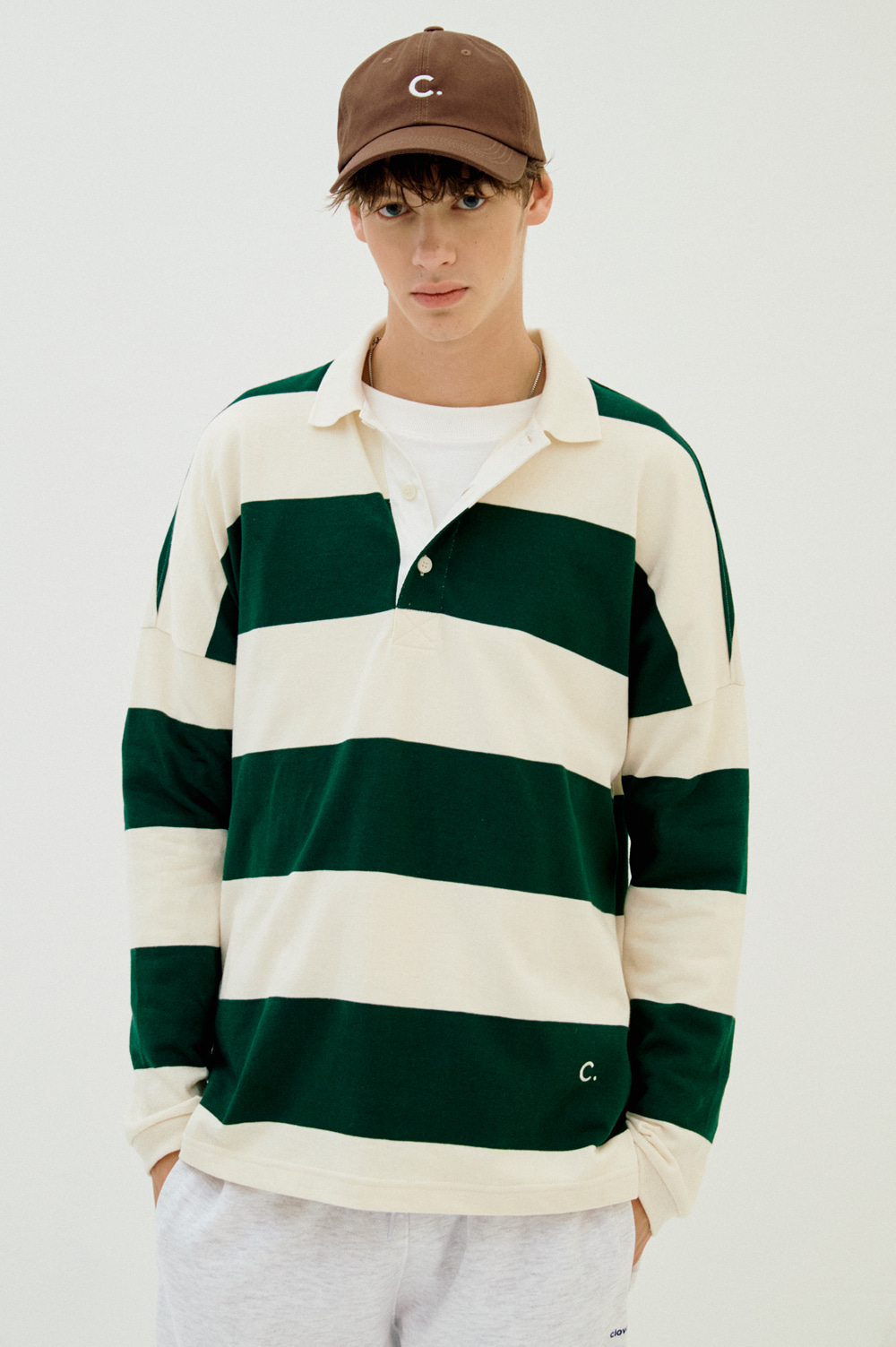 Stripe Rugby T-shirt_Men