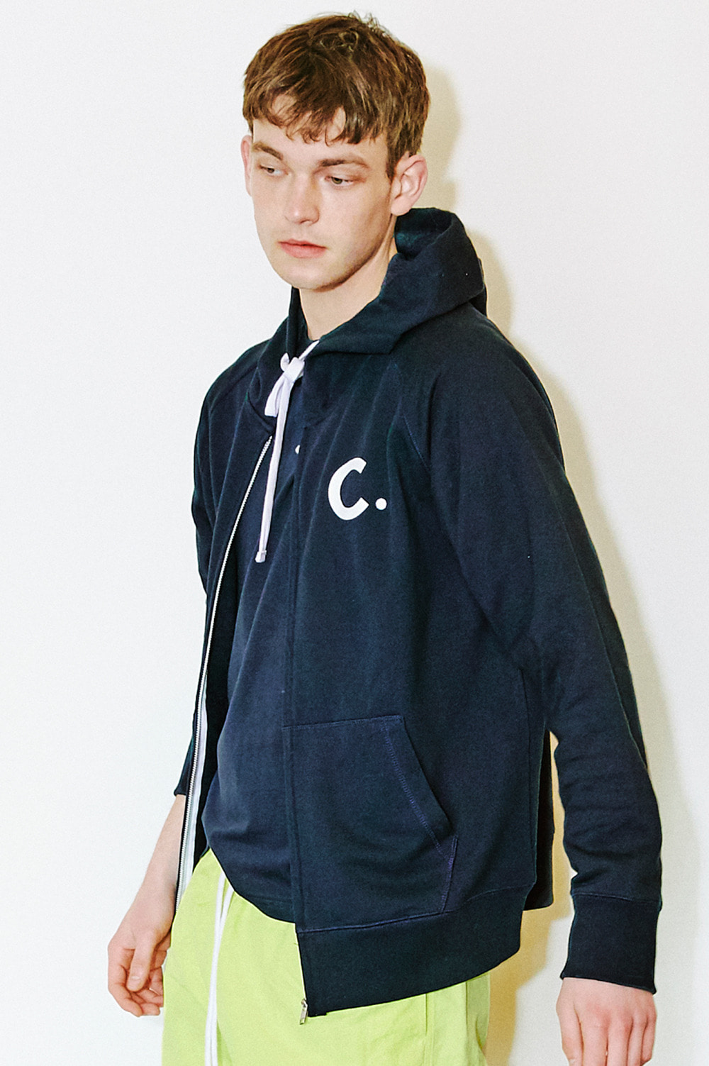 Logo Zip-Up Hoody (Navy)
