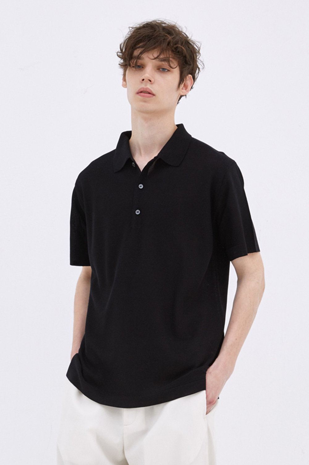 [2차리오더] Classic Knit Polo _Men  (Black)