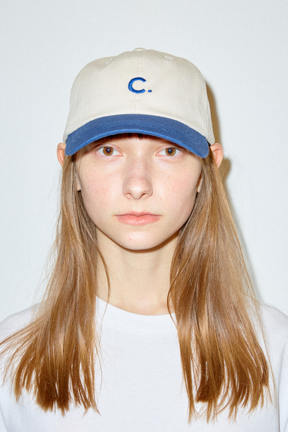 [7차리오더] Basic Fit Ball Cap  (Beige+Navy)