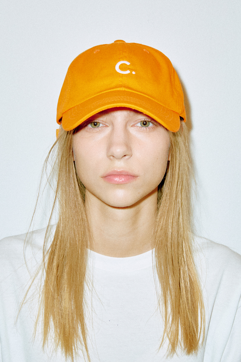 Basic Fit Ball Cap (Orange)