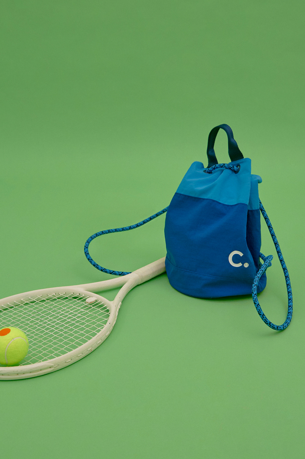 [2차리오더] Logo Gym Sack  (Blue)