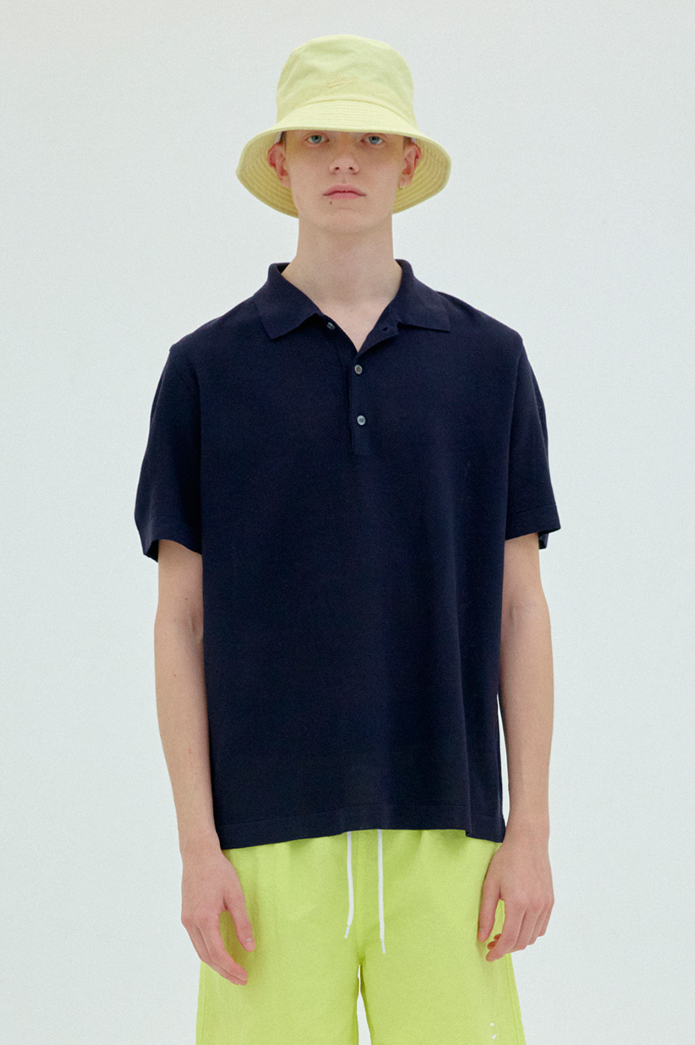 [2차리오더] Classic Knit Polo _Men  (Navy)