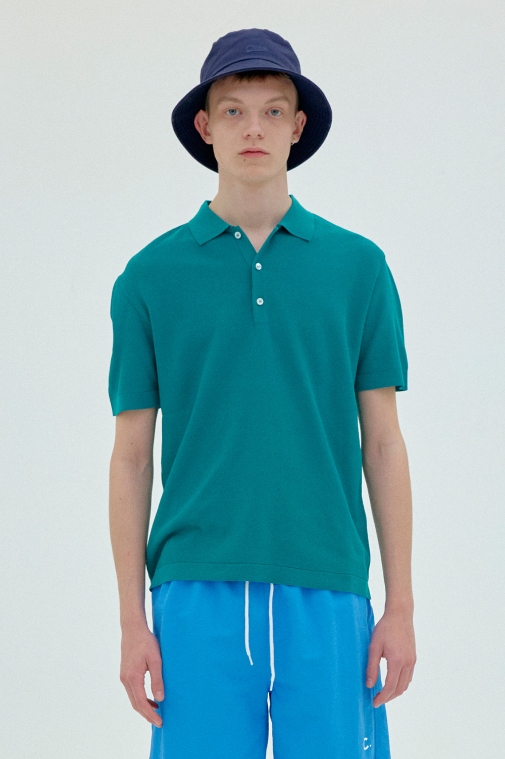 clove - Classic Knit Polo _Men  (Green)