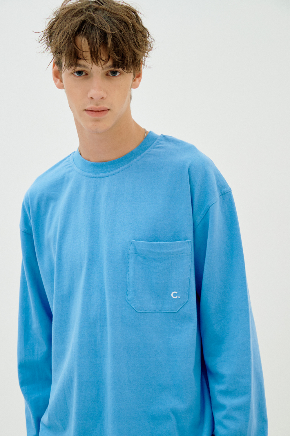 Pocket Long Sleeve T-shirt (Blue)