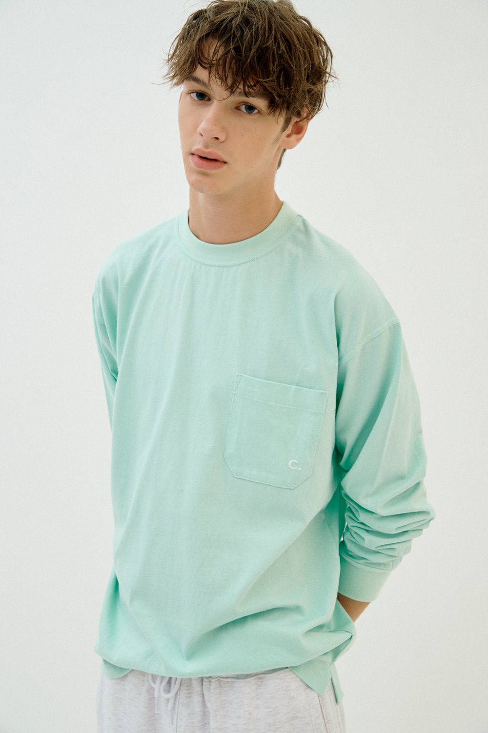 Pocket Long Sleeve T-shirt (Emerald)