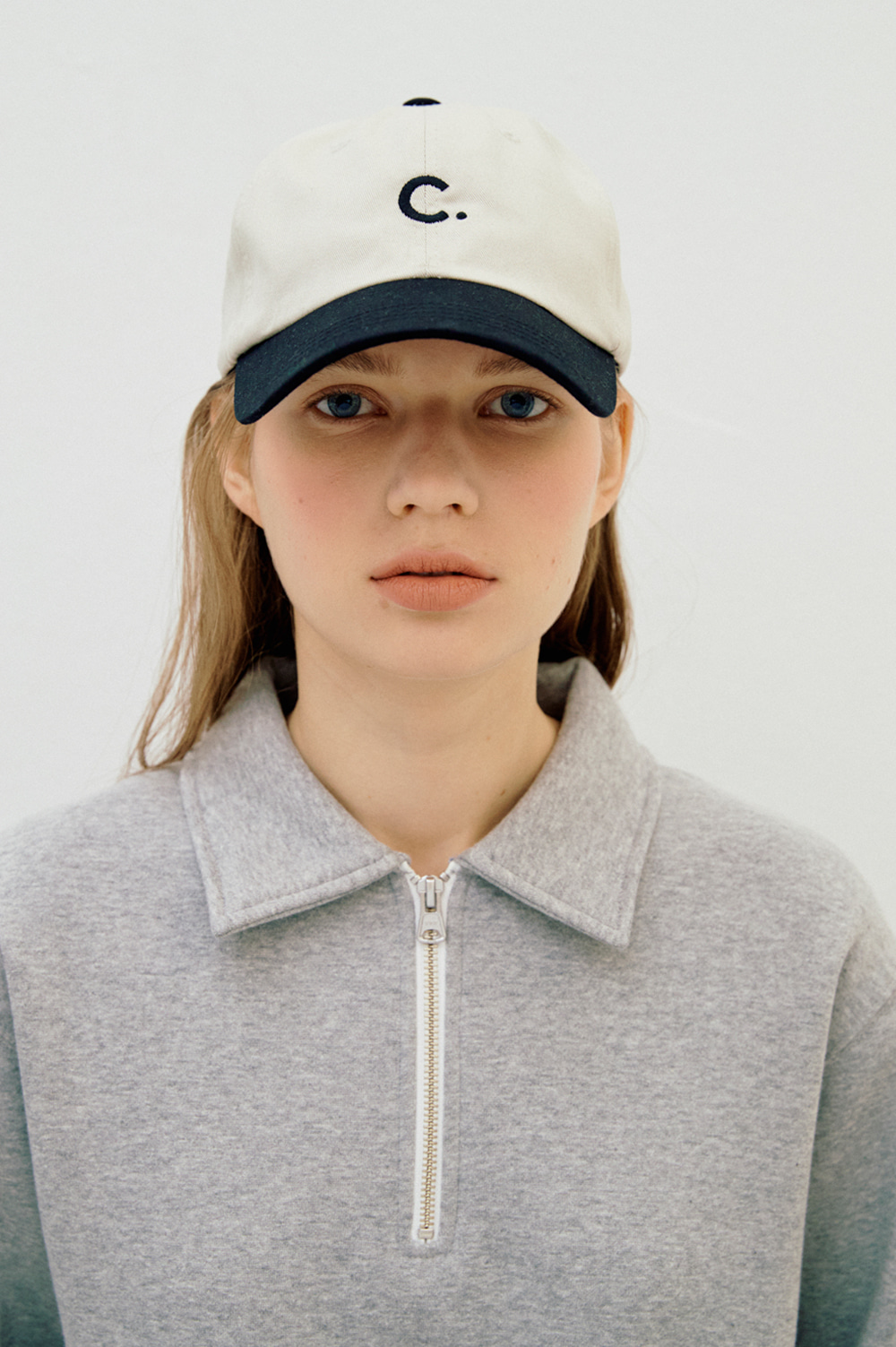 Basic Fit Ball Cap  (Beige+Black)
