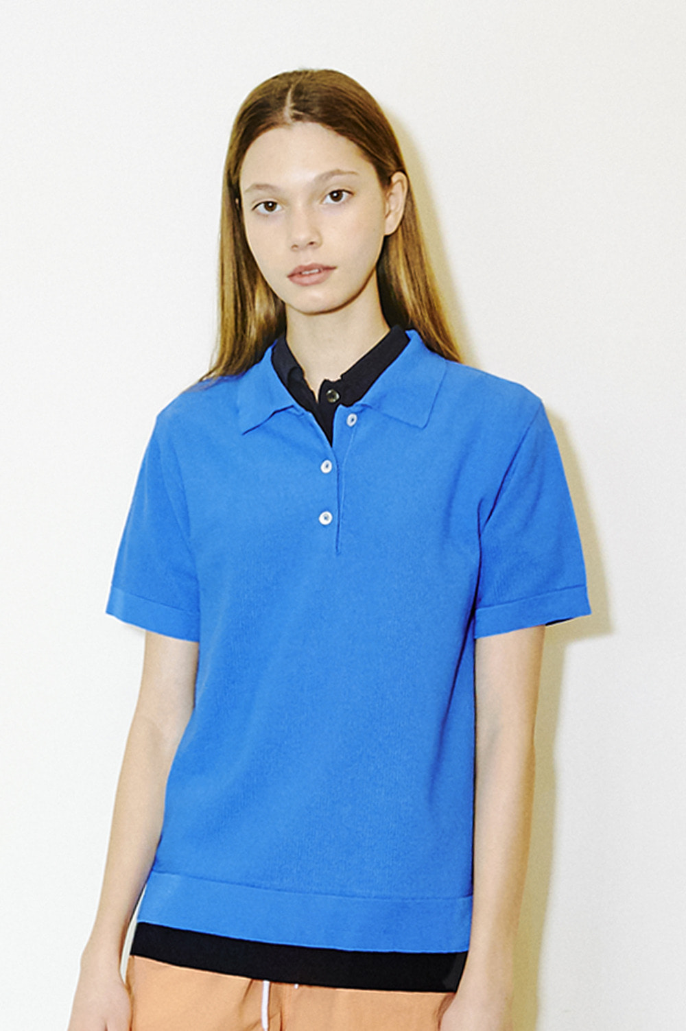 Classic Knit Polo _Women (Blue)