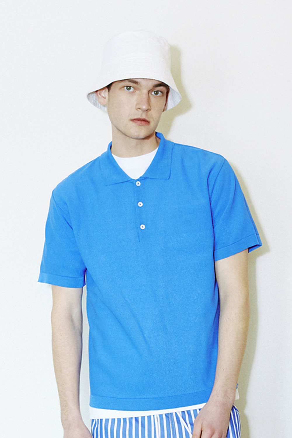Classic Knit Polo _Men (Blue)