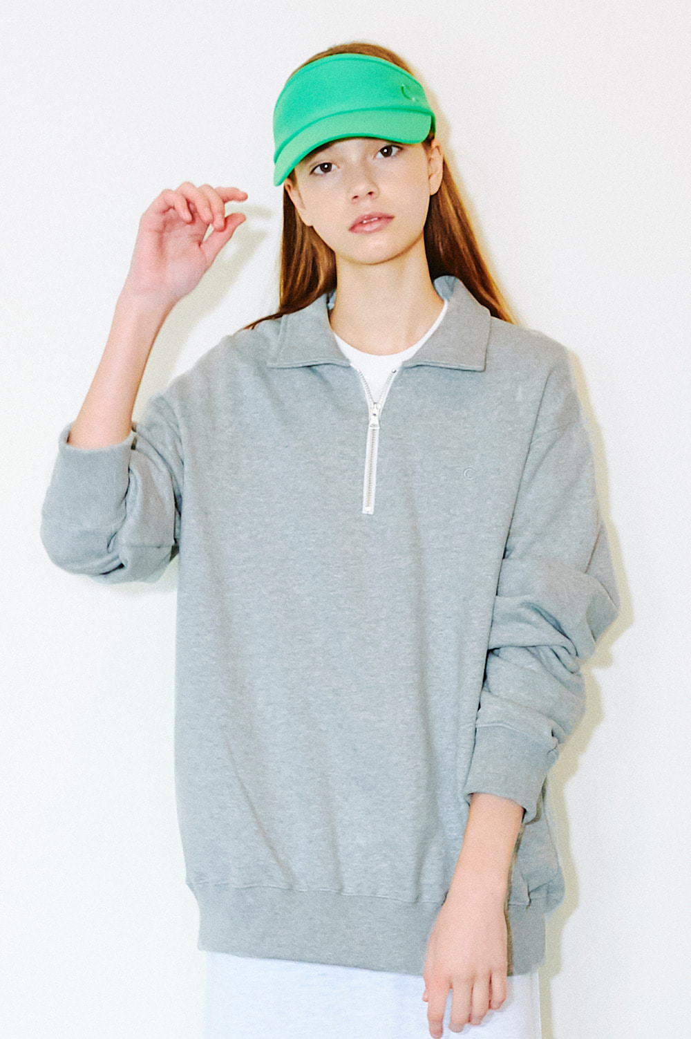 Basic Half-Zip Sweatshirts (gray)