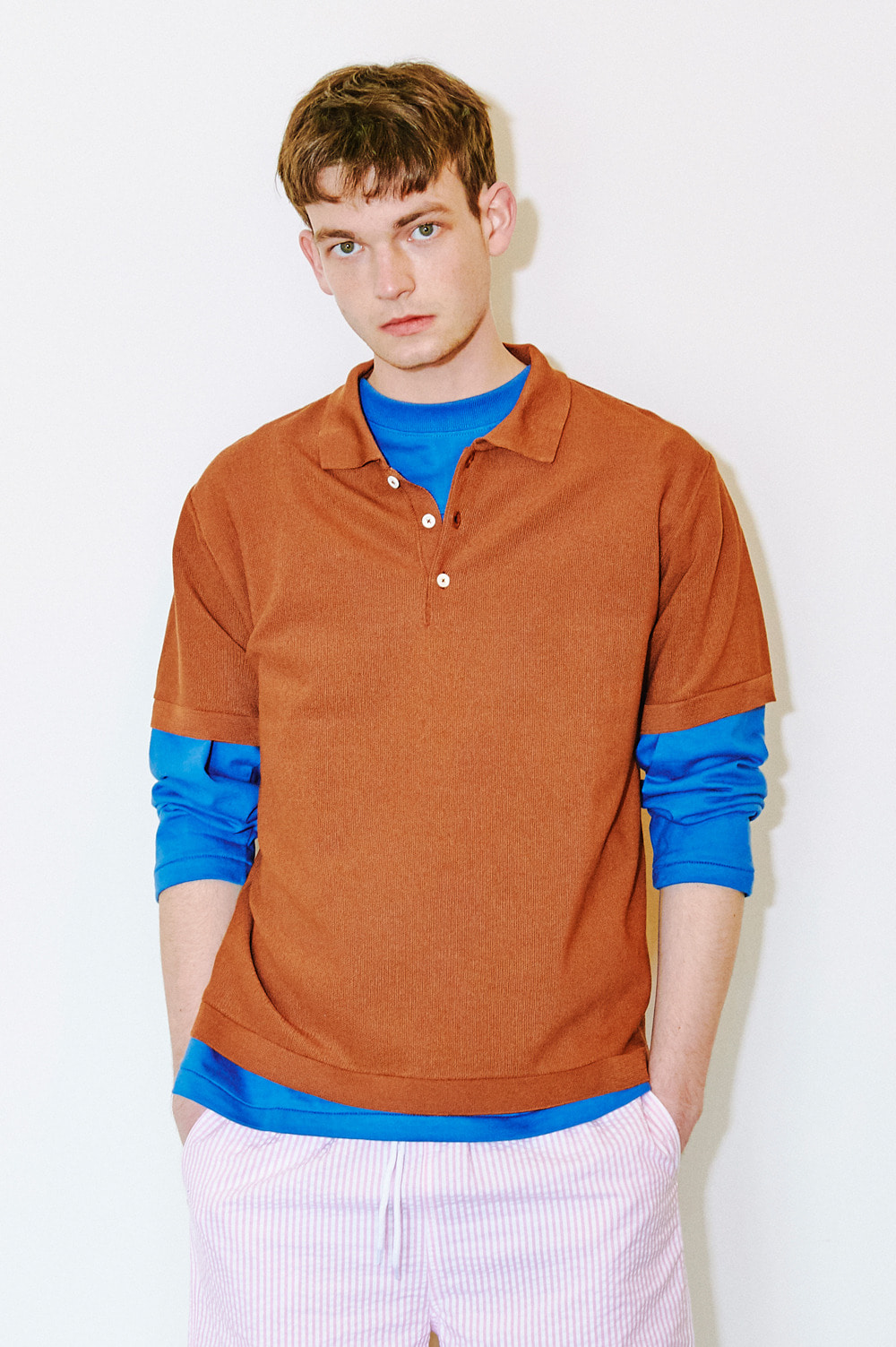 Classic Knit Polo _Men (Brown)