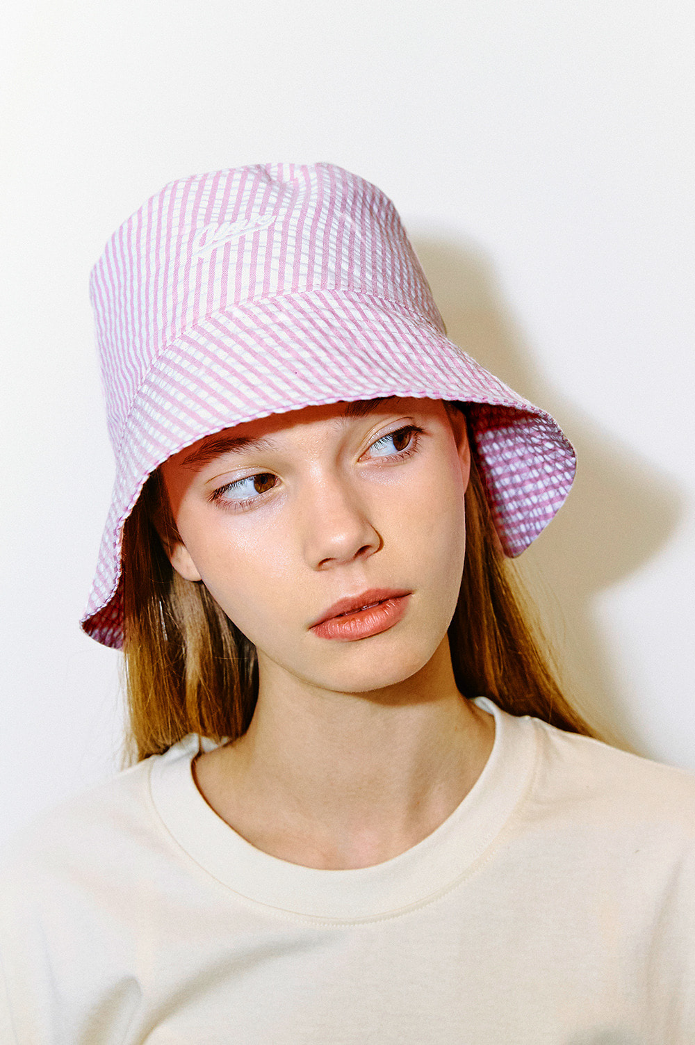 Stripe Logo Bucket Hat (Pink)