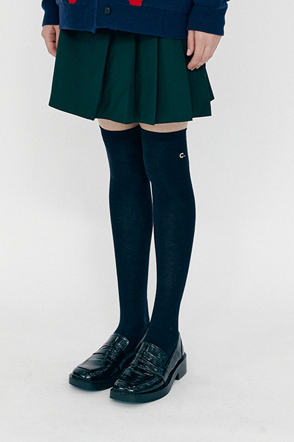 clove - High Knee Socks (Dark navy)