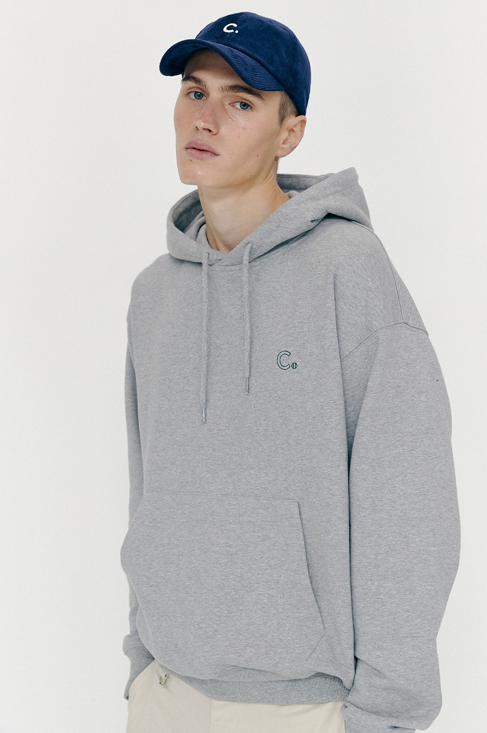 Active Sweat Hoody (Melange Grey)