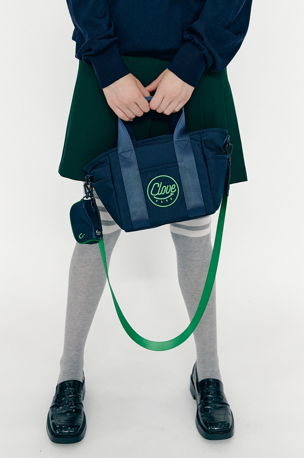 [FW20 CLOVE] Shoulder Bag with Golf Ball Case (Navy)