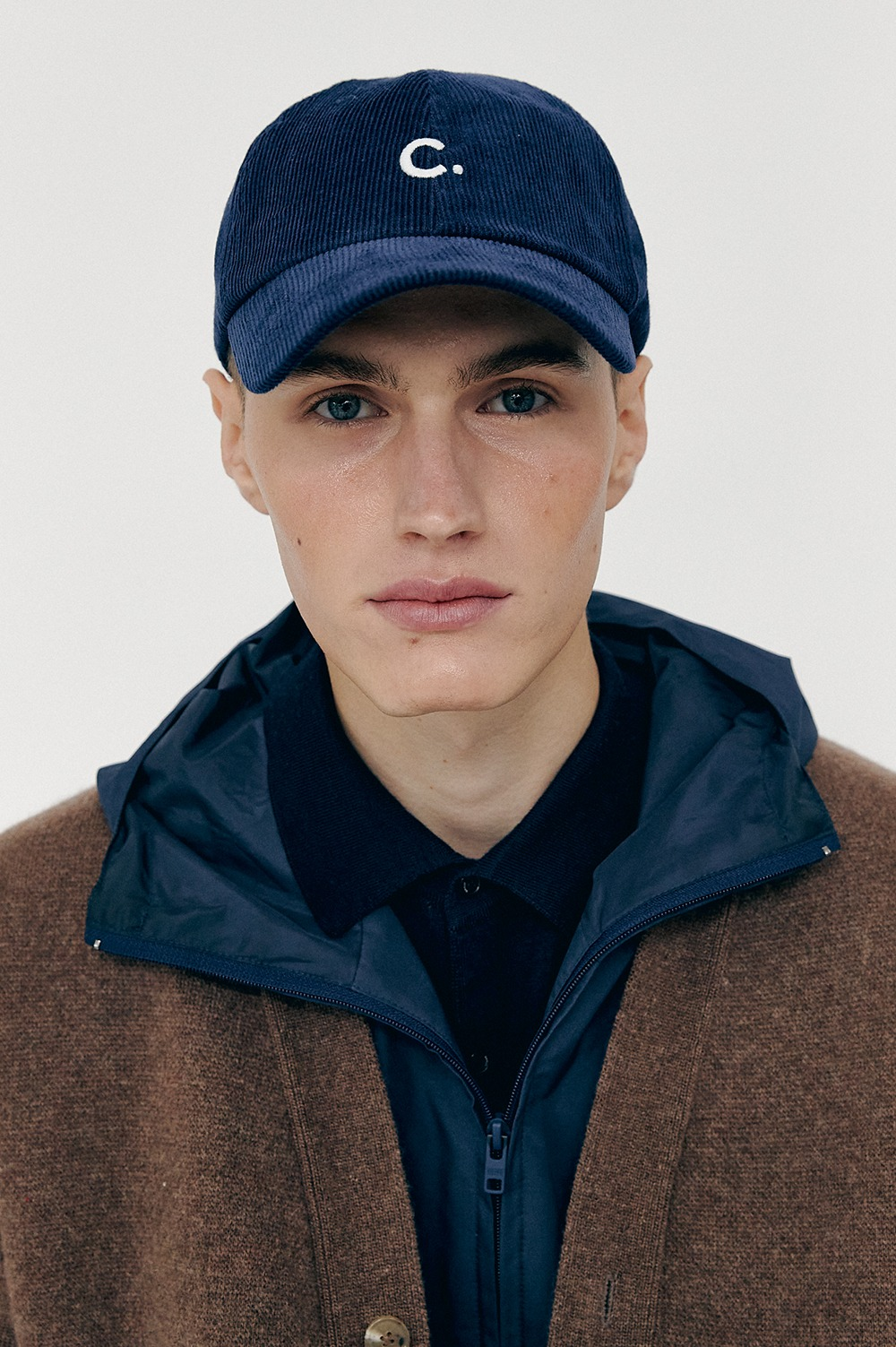 [FW20 CLOVE] Corduroy New Fit Ball Cap (Navy)