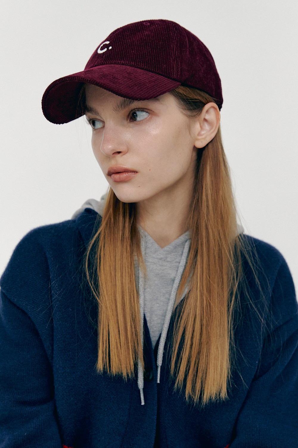 [FW20 CLOVE] Corduroy New Fit Ball Cap (Burgundy)