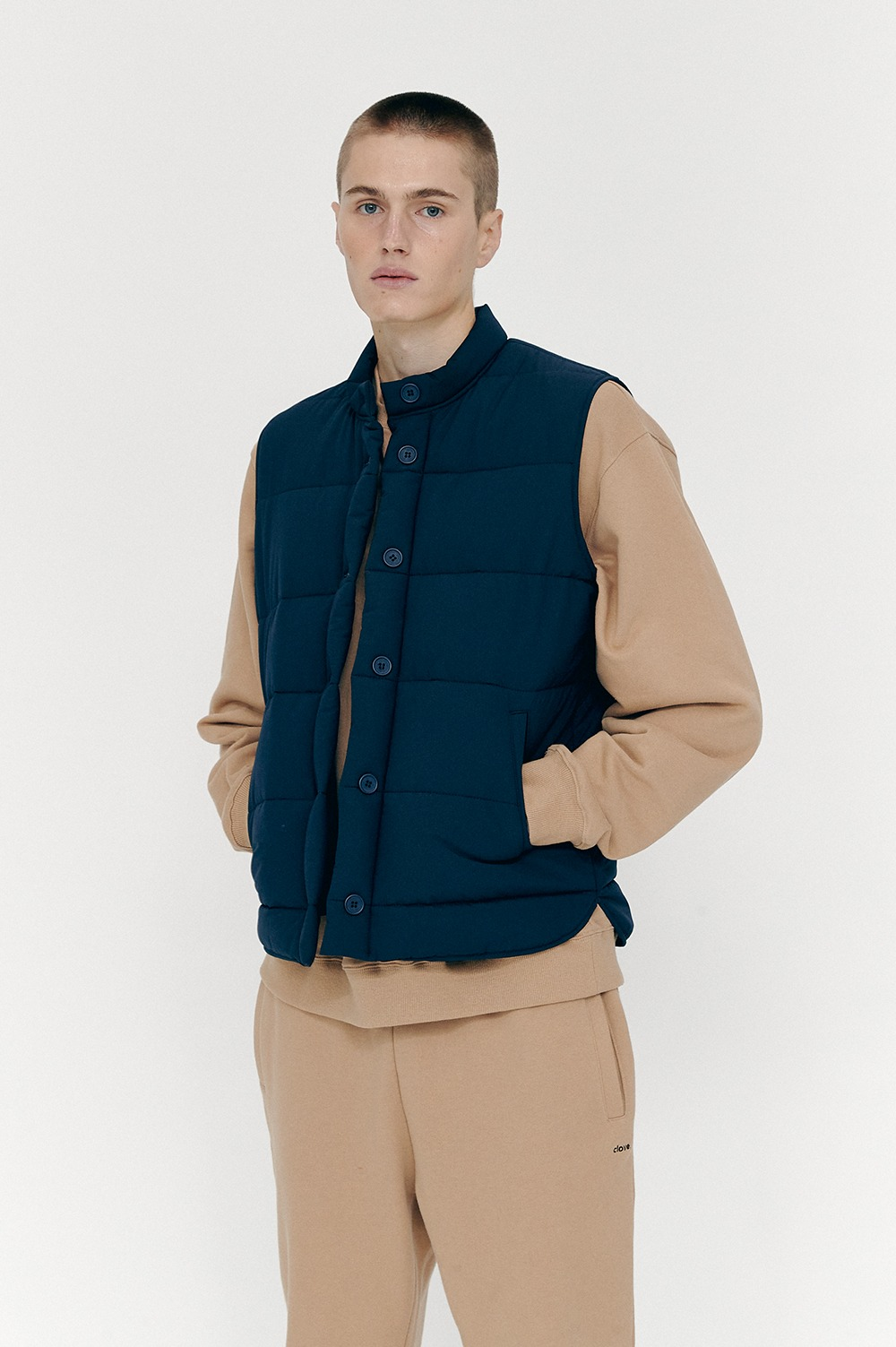 [FW20 CLOVE] Thintulate Padding Vest (Navy)