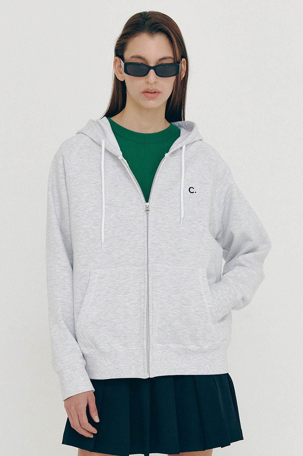 clove - [5/28(금) 예약배송][SS21 clove] Active Hoody Zip-up Light Grey