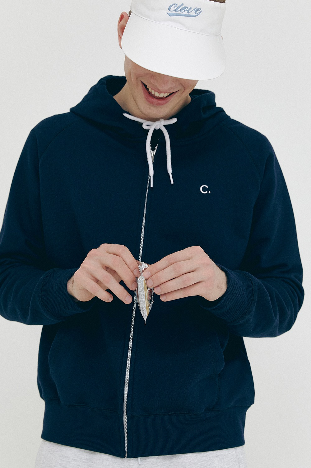 clove - [5/28(금) 예약배송][SS21 clove] Active Hoody Zip-up Dark Navy
