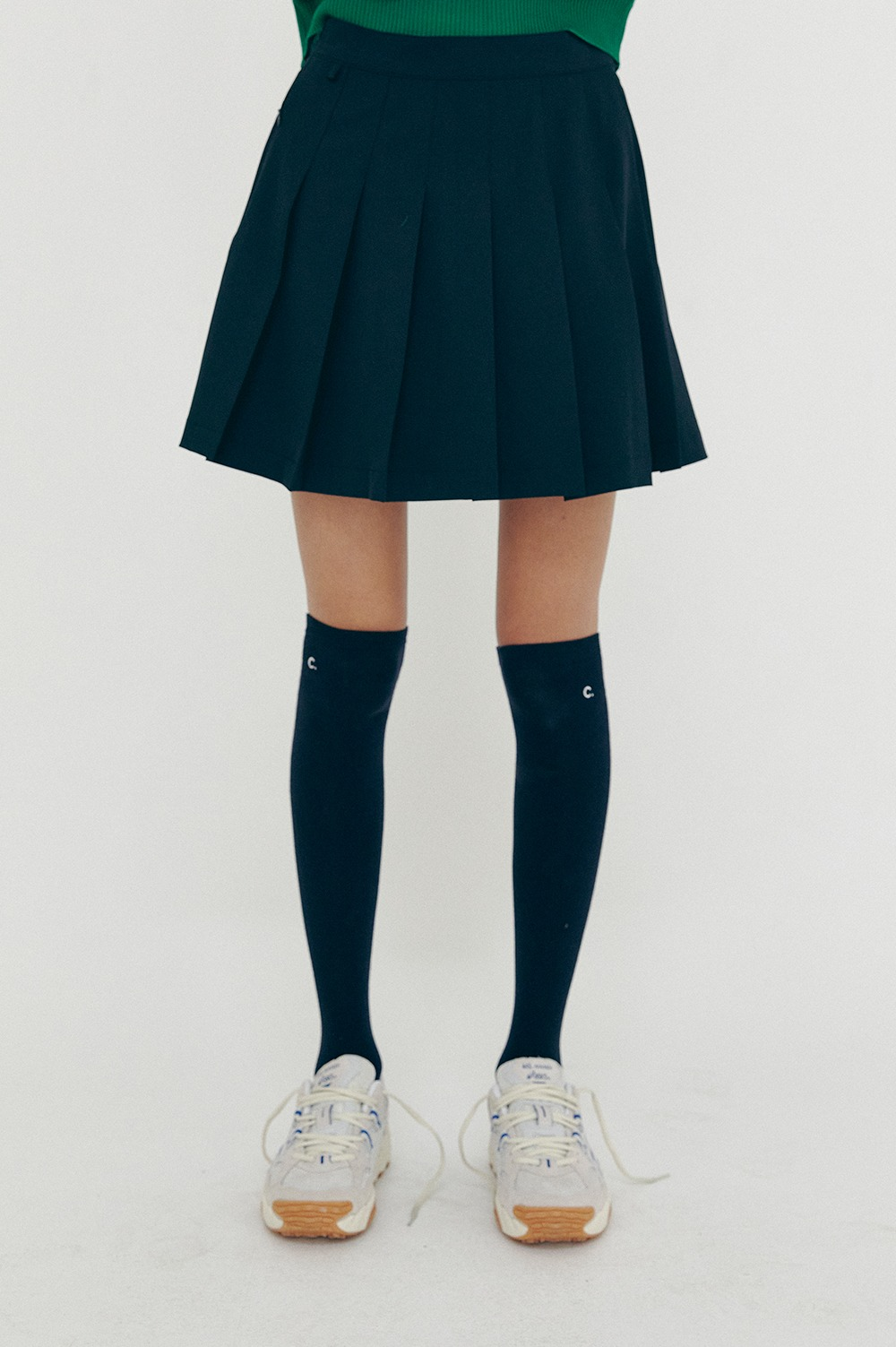 clove - [SS21 clove] New Pleated Skirt Navy