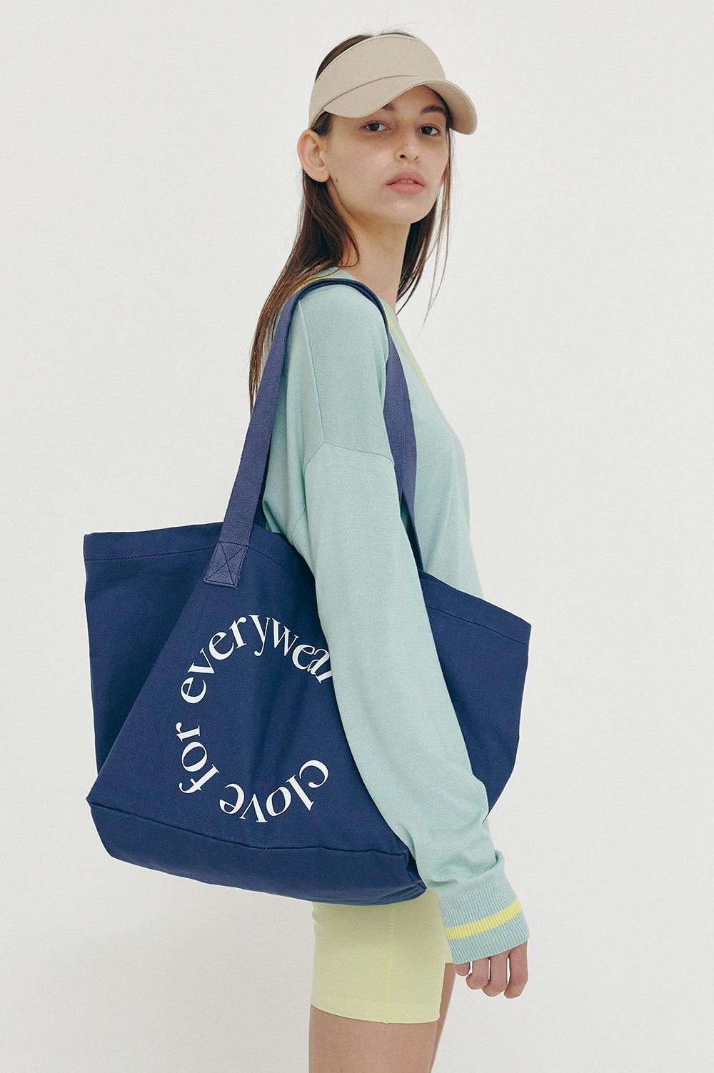 clove - [SS21 clove] Logo Cotton Totebag Navy