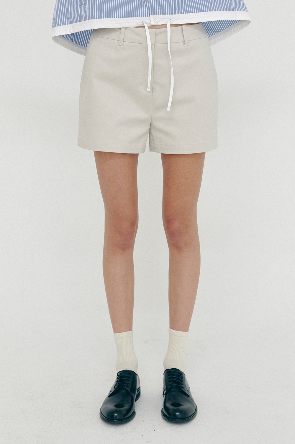 clove - [SS21 clove] Club Cotton Shorts Beige