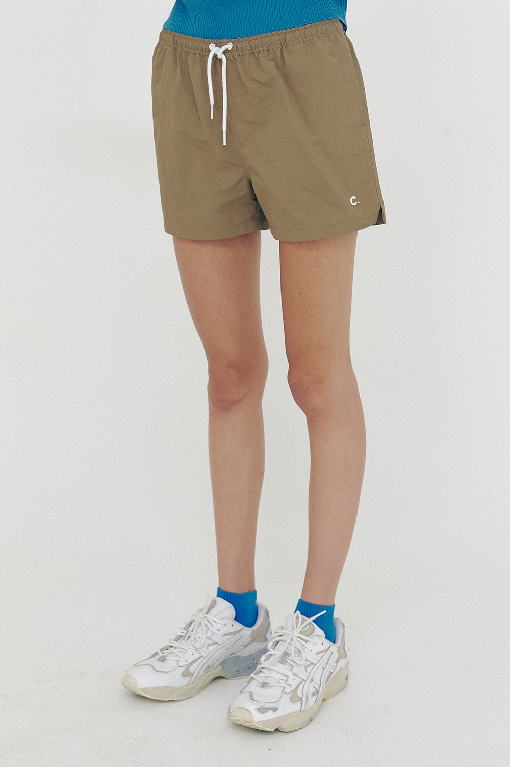 clove - [SS21 clove] New Summer Shorts_Women Khaki