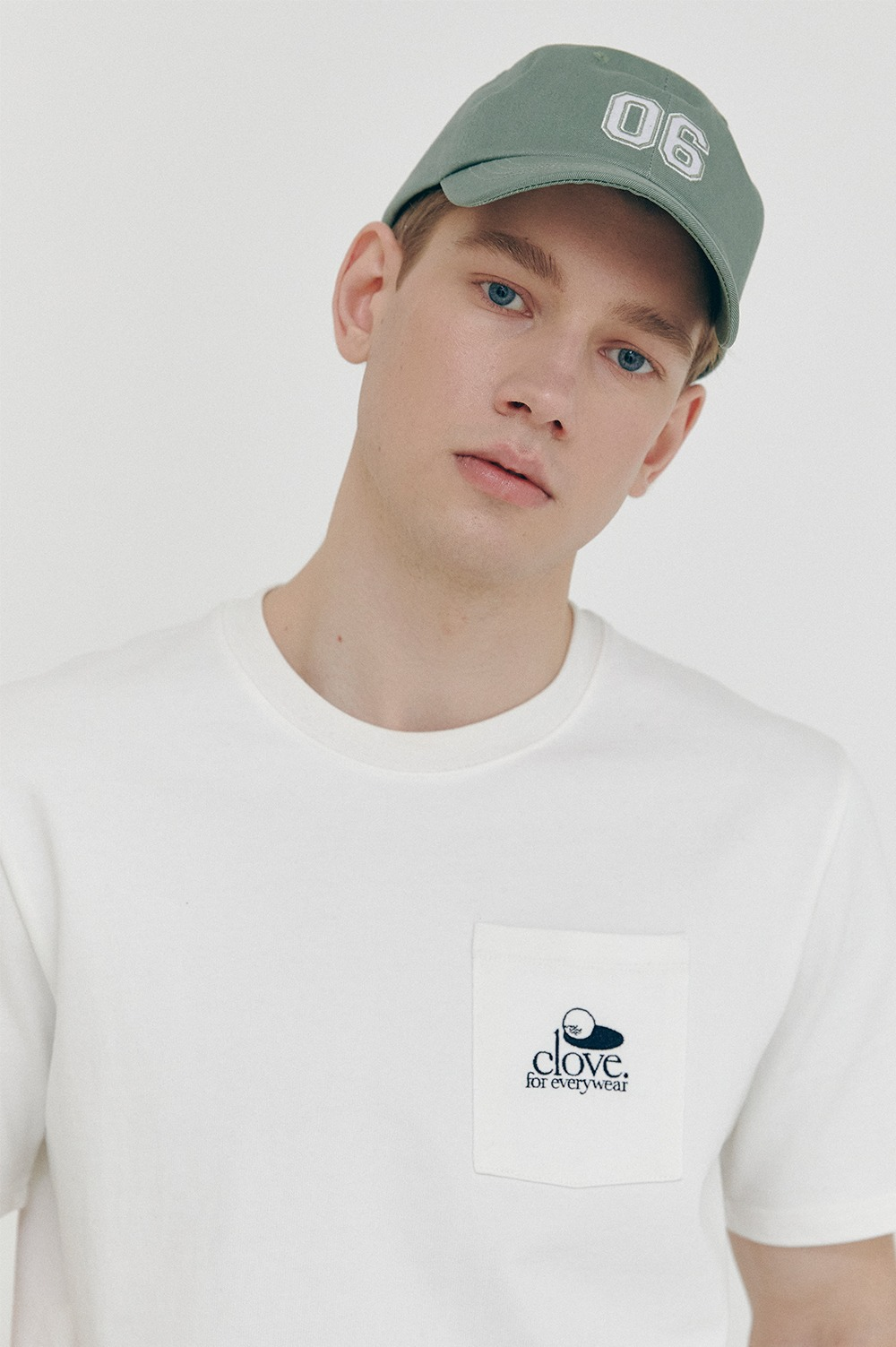 clove - [SS21 clove] Club Pocket T-shirt White