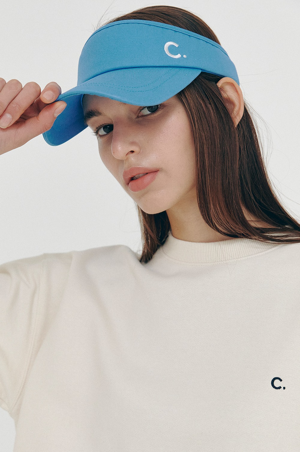 [SS21 CLOVE] Cotton Sun Visor Blue